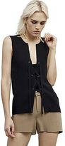 Kenneth Cole Lace-Up Silk Tank Top