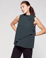 Vince Camuto Tiered Tie-neck Blouse
