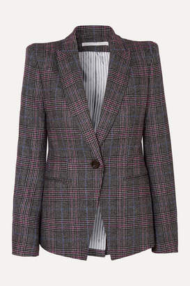 Veronica Beard Brock Dickey Checked Wool-blend Blazer - Gray