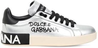 Dolce & Gabbana 20mm Portofino Leather Sneakers