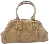 Prada Beige Python Handbags