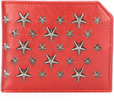 Jimmy Choo Albany star stud billfold wallet - men - Calf Leather - One Size