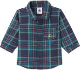 Petit Bateau Baby boy's checked cotton shirt