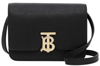 Burberry TB Mini Black Leather Cross-body Bag