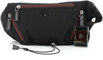 Gucci Multi Web Zip Drawstring Waist Bag Canvas