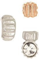 Fossil Textured Stud Earrings - Set of 3