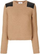 Courreges shoulder patch sweater