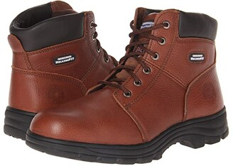 Skechers Workshire - Relaxed Fit (Brown) Men's Lace-up Boots