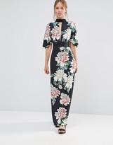 Liquorish Kimono Sleeve Maxi Dress