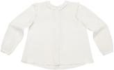 Marie Chantal Frill Shoulder Silk Blouse