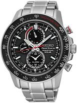 Seiko Ssc357p1 Sportura Chronograph Bracelet Strap Watch, Silver/black