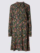 Marks and Spencer Floral Print Tie Neck Swing Dress
