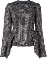 Capucci peplum tweed jacket - women - Silk/Acrylic/Polyamide/Virgin Wool - 40