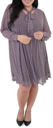 Marée Pour Toi Long Sleeve Trapeze Dress
