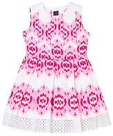 Oscar de la Renta Pink Ikat Sleeveless Party Dress