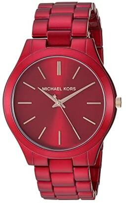 Michael Kors Slim Runway - MK3895 (Red) Watches