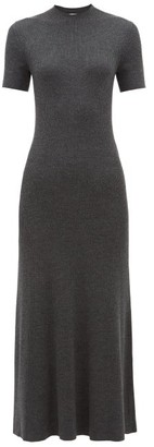 Gabriela Hearst Clare Ribbed Virgin-wool Sweater Dress - Womens - Dark Grey