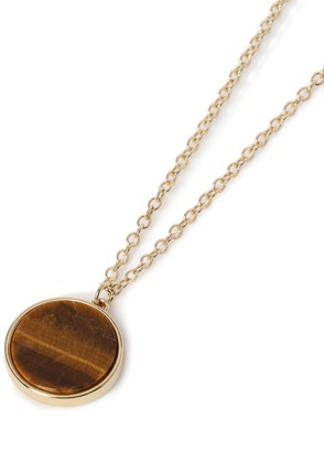 Topman Stone Disc Pendant Necklace*