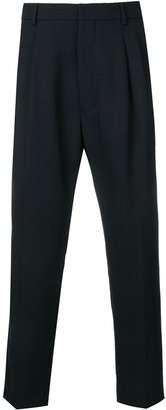 Ami Paris High-Waisted Pleated Trousers
