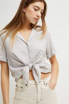 French Connenction Laiche Stripe Tie Front Shirt