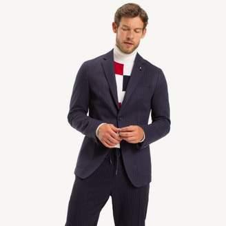 Tommy Hilfiger Pinstripe Jersey Slim Fit Blazer