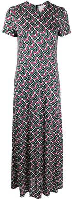 La DoubleJ Geometric-Print Swing Dress