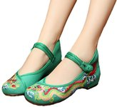 AvaCostume Chinese Traditional Dragon Embroidery Flats Cheongsam Shoes