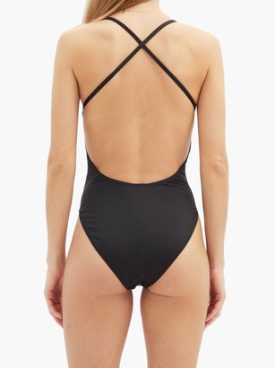 Norma Kamali Fara Scoop-neck Crossover-back Swimsuit - Black