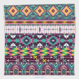 Vipsung Microfiber Ultra Soft Hand Towel-Native American Ethnic Traditional Aztec Pattern Geometric Figures And Arrows Art Teal Purple Yellow For Hotel Spa Beach Pool Bath