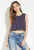 Forever 21 FOREVER 21+ Contemporary Stripe Crop Top