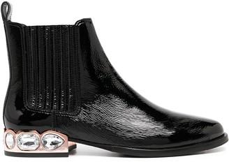 Sophia Webster Bessie crystal-embellished ankle botos