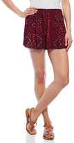 RD Style Printed Lace-Trimmed Shorts