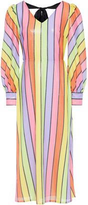 Olivia Rubin Thora Sequined Striped Georgette Midi Dress