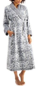 Charter Club Long Floral Scroll Robe, Created for Macy's