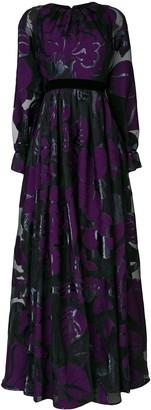 Talbot Runhof Lame Jacquard Dress