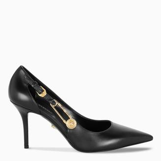 Versace Black Medusa safety pin pumps