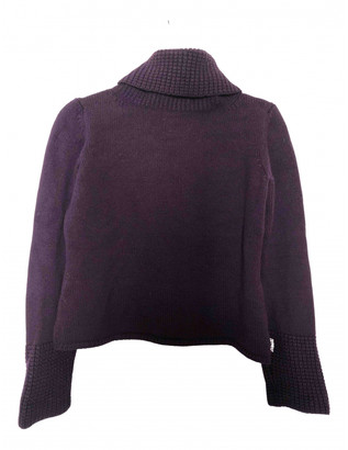 Burberry Purple Wool Knitwear
