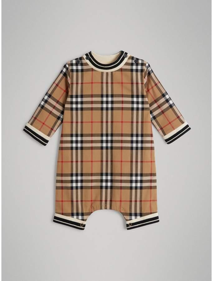 Burberry Childrens Vintage Check Cotton Poplin Jumpsuit