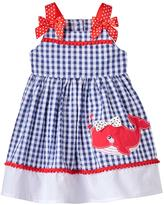 Nannette Baby Girl Whale Seersucker Dress