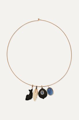 Dezso by Sara Beltrán 18-karat Rose Gold Multi-stone Choker