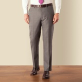 J By Jasper Conran Grey Prince Of Wales Check Luxury Plain Front Tailored Fit Suit Trouser