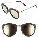 Le Specs Women's No Smirking Limited 50Mm Sunglasses - Matte Black