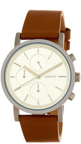DKNY Women's Soho Chronograph Leather Strap Watch