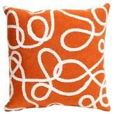 "Liora Manné Crochet Lasso Indoor/Outdoor Pillow - Orange - 18\"" Square"