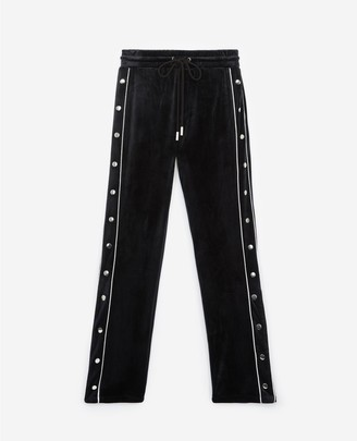 The Kooples Black velvet trousers with press studs