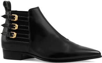 Gucci Quebec 3-Buckle Booties with Elastic