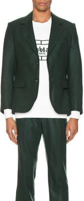 Casablanca Midnight Single Breasted Jacket in Green | FWRD