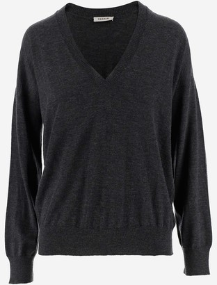 P.A.R.O.S.H. Grey Cashmere Women's V-neck Sweater