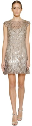 Alberta Ferretti Embellished Techno Mini Dress