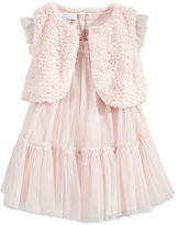 First Impressions Baby Girls' 2-Pc. Faux-Fur Vest & Tulle Dress Set, Only at Macy's